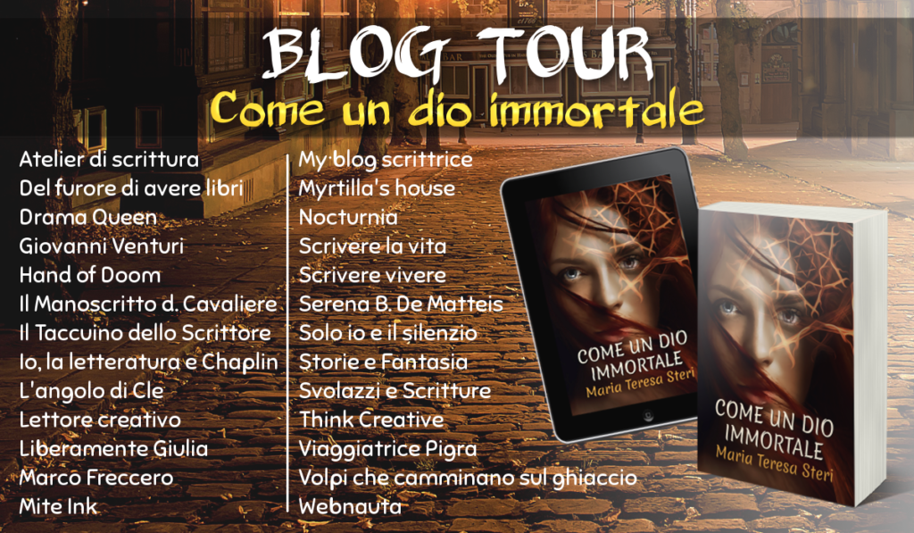 Banner BlogTour Come un dio immortale